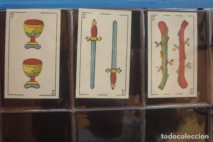 Barajas de cartas: BARAJA SIGLO XIX. JAIME GARCÍA FOSSAS-IGUALADA. 48 CARTAS. LEON Y SOL EN 4 DE COPAS. TIMBRE EN..... - Foto 6 - 168157980