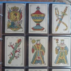 Barajas de cartas: BARAJA SIGLO XIX. JAIME GARCÍA FOSSAS-IGUALADA. 48 CARTAS. LEON Y SOL EN 4 DE COPAS. TIMBRE EN....... Lote 168159488