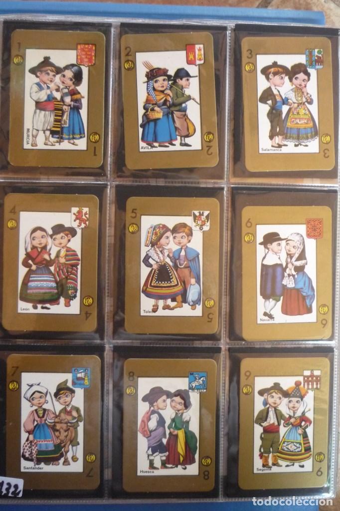 BARAJA 48 CARTAS. ESPAÑA. PAREJAS CON TRAJES REGIONALES Y ESCUDOS PROVINCIALES. (Juguetes y Juegos - Cartas y Naipes - Baraja Española)