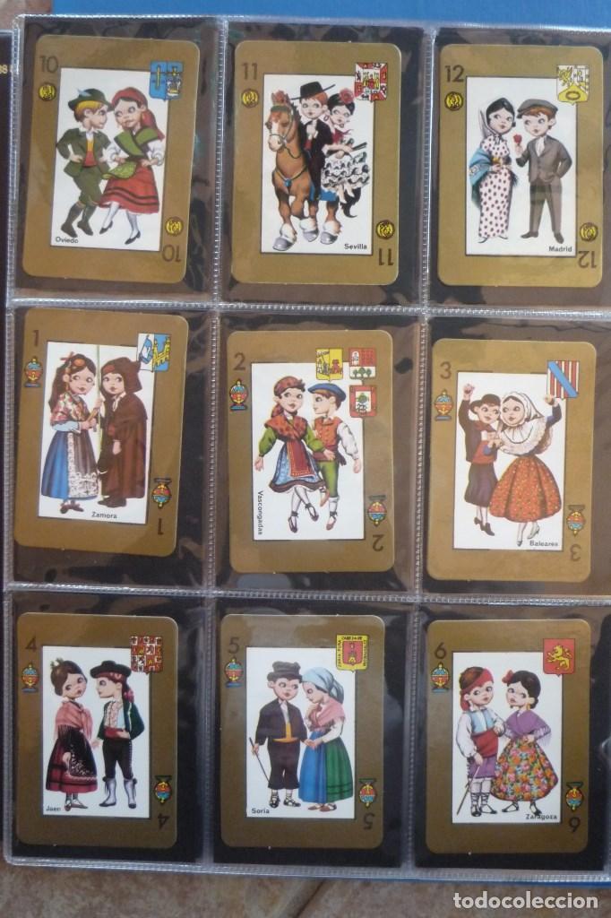 Barajas de cartas: BARAJA 48 CARTAS. ESPAÑA. PAREJAS CON TRAJES REGIONALES Y ESCUDOS PROVINCIALES. - Foto 2 - 168162732