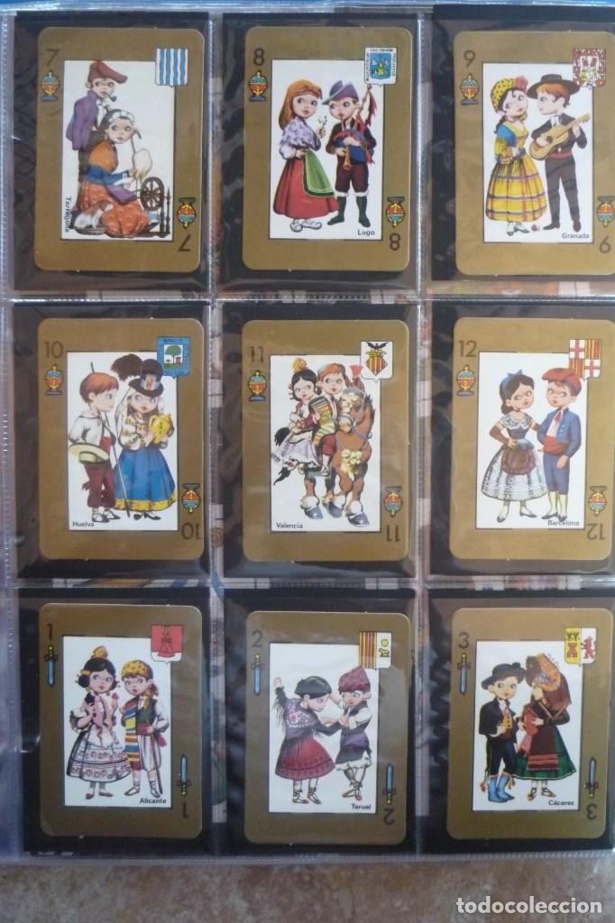Barajas de cartas: BARAJA 48 CARTAS. ESPAÑA. PAREJAS CON TRAJES REGIONALES Y ESCUDOS PROVINCIALES. - Foto 3 - 168162732
