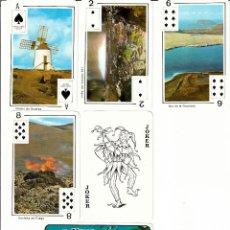 Barajas de cartas: BARAJAS POKER TURISTICAS DE LANZAROTE Y CERVEIRA, (PORTUGAL). Lote 168384292