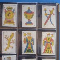 Barajas de cartas: COMAS SIGLO XIX. BARAJA 48 CARTAS. CIERVO EN 4 DE COPAS. CANANA DE FLECHAS EN 4 DE OROS. Lote 168636164