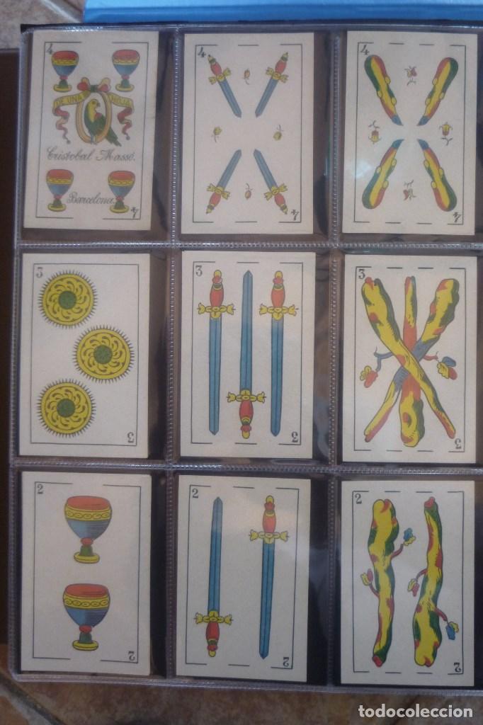 Barajas de cartas: COMAS 1896. BARAJA 40 CARTAS. PERIQUITO CON CRISTOBAL MASSÓ EN EL 4 DE COPAS. 4 DE OROS CON....... - Foto 4 - 168638040