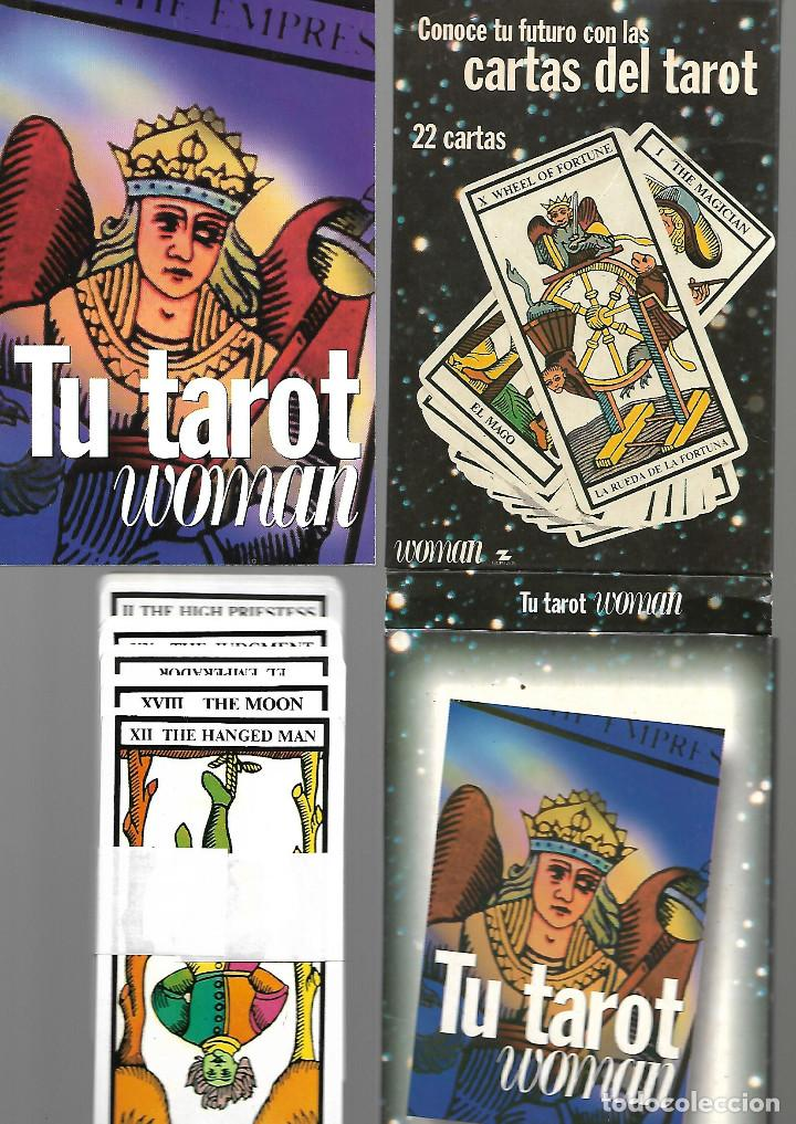 ARCANOS MAYORES DE WOMAN EN CAJA Y LIBRO COMPLETOS PERFECTO ESTADO (Juguetes y Juegos - Cartas y Naipes - Barajas Tarot)