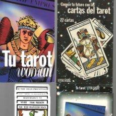 Barajas de cartas: ARCANOS MAYORES DE WOMAN EN CAJA Y LIBRO COMPLETOS PERFECTO ESTADO. Lote 168957464