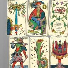 Barajas de cartas: CARTAS DE BARAJA DE TAROT ESPAÑOL 72 CARTAS EN BUEN ESTADO. Lote 168959216