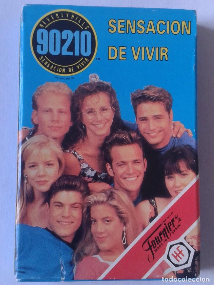 BARAJA DE CARTAS NAIPES FOURNIER 1991 IMPECABLE SIN USO PLAYING CARDS SERIE TV SENSACIÓN VIVIR 90210 (Juguetes y Juegos - Cartas y Naipes - Barajas Infantiles)