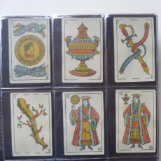 Barajas de cartas: SIMEÓN DURÁ. BARAJA ANTIGUA SIGLO XIX. 40 CARTAS COMPLETA. EL CID EN 4 DE COPAS. LEYENDA 'FABRICA.... Lote 169048564