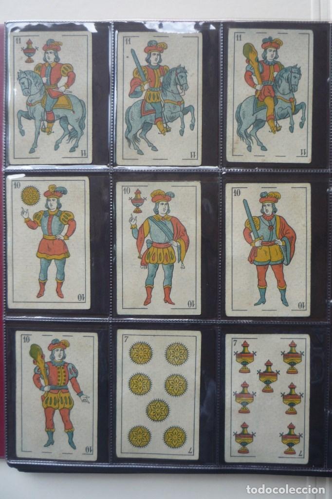 Barajas de cartas: SIMEÓN DURÁ. BARAJA ANTIGUA SIGLO XIX. 40 CARTAS COMPLETA. EL CID EN 4 DE COPAS. LEYENDA FABRICA... - Foto 2 - 169048564