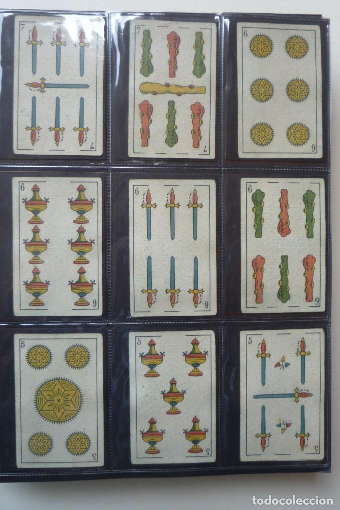 Barajas de cartas: SIMEÓN DURÁ. BARAJA ANTIGUA SIGLO XIX. 40 CARTAS COMPLETA. EL CID EN 4 DE COPAS. LEYENDA FABRICA... - Foto 3 - 169048564