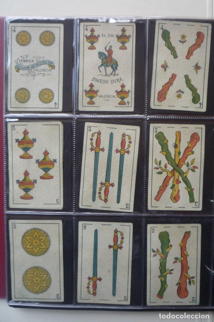 Barajas de cartas: SIMEÓN DURÁ. BARAJA ANTIGUA SIGLO XIX. 40 CARTAS COMPLETA. EL CID EN 4 DE COPAS. LEYENDA FABRICA... - Foto 4 - 169048564