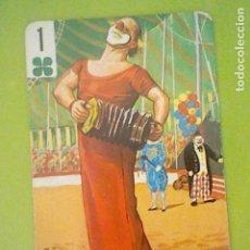 Barajas de cartas: BARAJA CIRCO CARTA NAIPE NO BARAJA CIRCO FOURNIER 70´S TRÉBOL 1 PAYASO ACORDEÓN. Lote 169198924