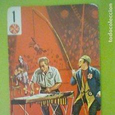 Barajas de cartas: BARAJA CIRCO CARTA NAIPE NO BARAJA CIRCO FOURNIER 70´S COMODIN PELOTA 1 PAYASOS MUSICOS. Lote 169200092