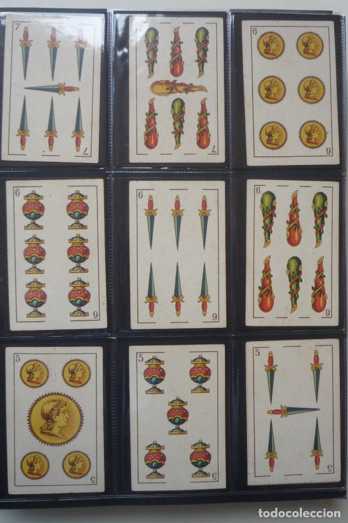 Barajas de cartas: SIMEÓN DURÁ. BARAJA ANTIGUA RARA. 40 CARTAS COMPLETA. EL CID EN 4 DE COPAS. CLASE DE 2ª EN 4 DE OROS - Foto 3 - 169240220