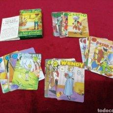 Barajas de cartas: ANTIGUO JUEGO DE CARTAS PETER PAN Y LOS PIRATAS. COMPLETO. MARCA FOURNIER.. Lote 169397014