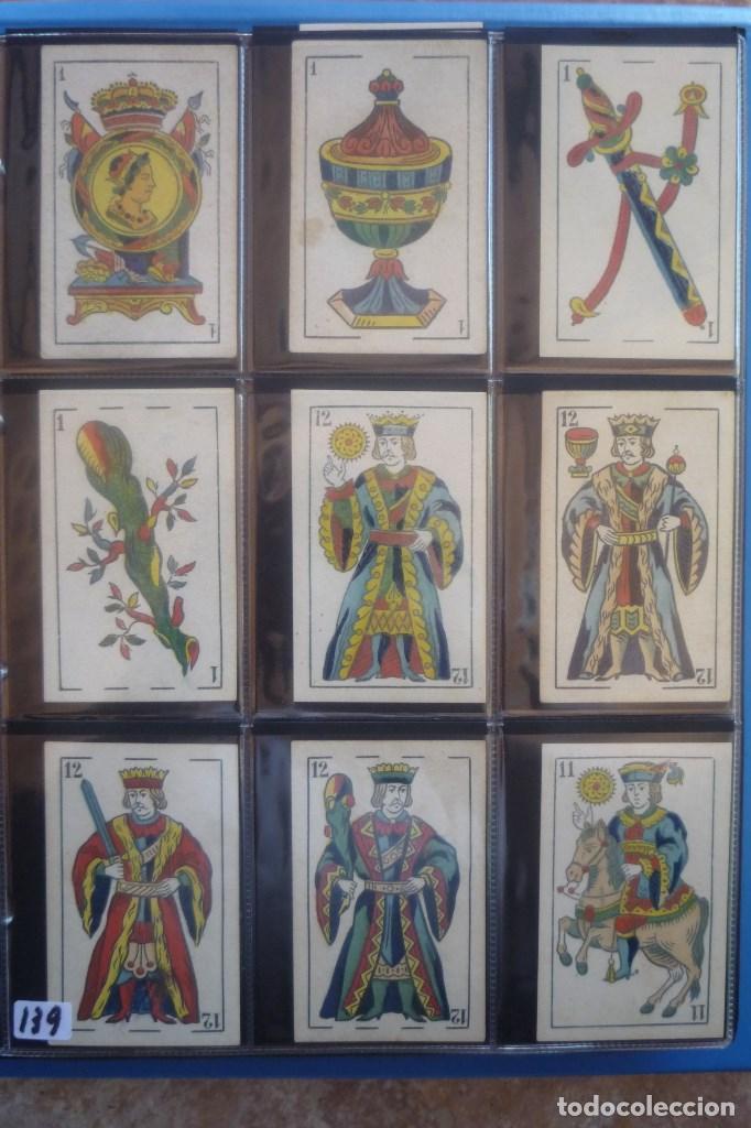 HIJO DE TORRAS Y LLEÓ-BARCELONA. BARAJA ANTIGUA. 40 CARTAS COMPLETA. LEYENDA CON LEÓN ENTRE TORRES (Juguetes y Juegos - Cartas y Naipes - Baraja Española)
