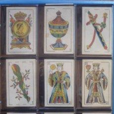 Barajas de cartas: HIJO DE TORRAS Y LLEÓ-BARCELONA. BARAJA ANTIGUA. 40 CARTAS COMPLETA. LEYENDA CON LEÓN ENTRE TORRES . Lote 169440432