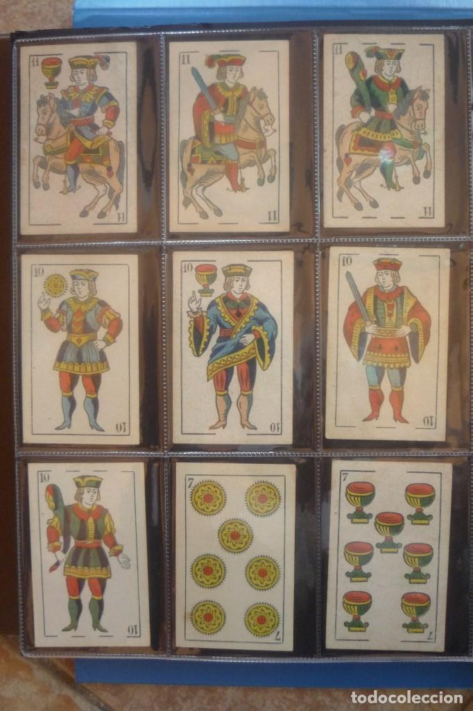 Barajas de cartas: HIJO DE TORRAS Y LLEÓ-BARCELONA. BARAJA ANTIGUA. 40 CARTAS COMPLETA. LEYENDA CON LEÓN ENTRE TORRES - Foto 2 - 169440432