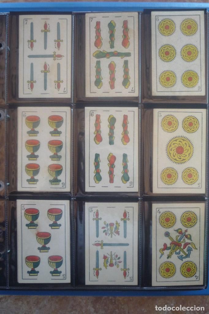 Barajas de cartas: HIJO DE TORRAS Y LLEÓ-BARCELONA. BARAJA ANTIGUA. 40 CARTAS COMPLETA. LEYENDA CON LEÓN ENTRE TORRES - Foto 3 - 169440432
