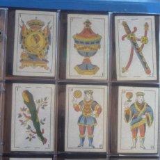 Barajas de cartas: HIJO DE TORRAS Y LLEÓ-BARCELONA. RARA BARAJA ANTIGUA. 48 CARTAS COMPLETA. LEYENDA CON LEÓN ENTRE... . Lote 169444200