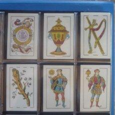 Barajas de cartas: HIJO DE TORRAS Y LLEÓ-BARCELONA. BARAJA ANTIGUA MUY RARA. 48 CARTAS COMPLET. LEYENDA CON LEÓN ENTRE. Lote 169448376