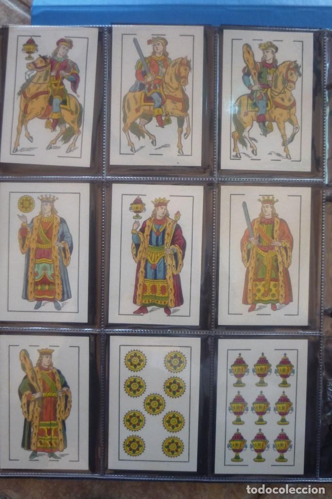 Barajas de cartas: HIJO DE TORRAS Y LLEÓ-BARCELONA. BARAJA ANTIGUA MUY RARA. 48 CARTAS COMPLET. LEYENDA CON LEÓN ENTRE - Foto 2 - 169448376