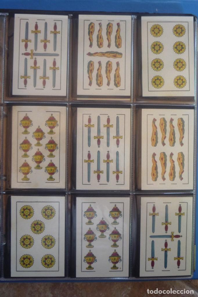 Barajas de cartas: HIJO DE TORRAS Y LLEÓ-BARCELONA. BARAJA ANTIGUA MUY RARA. 48 CARTAS COMPLET. LEYENDA CON LEÓN ENTRE - Foto 3 - 169448376