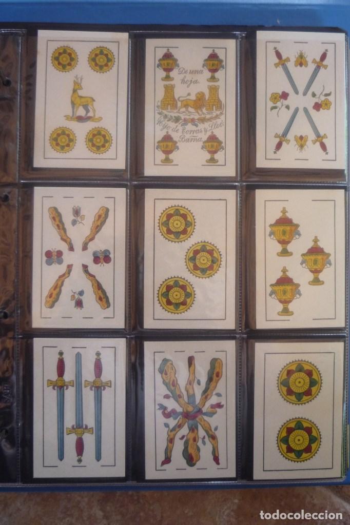 Barajas de cartas: HIJO DE TORRAS Y LLEÓ-BARCELONA. BARAJA ANTIGUA MUY RARA. 48 CARTAS COMPLET. LEYENDA CON LEÓN ENTRE - Foto 5 - 169448376