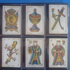 Barajas de cartas: SEBASTIÁN COMAS Y RICARD. ANTIGUA Y MUY RARA. 4O CARTAS COMPLETA. CIERVO CORRIENDO CON S.C. Y R. EN. Lote 169453396