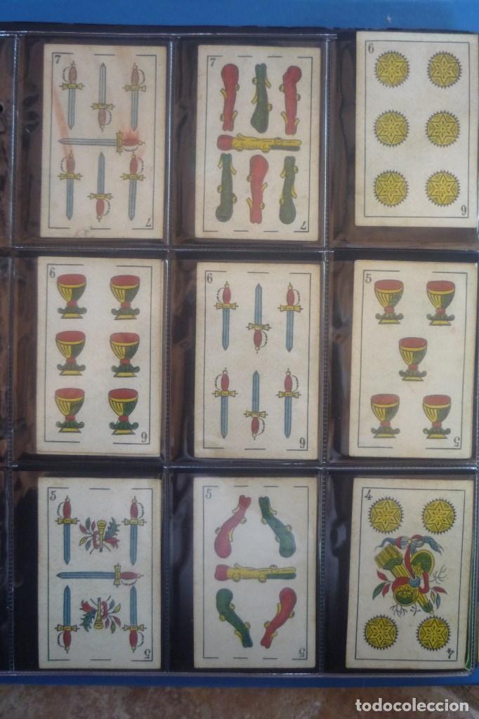Barajas de cartas: SEBASTIÁN COMAS Y RICARD. ANTIGUA Y MUY RARA. 4O CARTAS COMPLETA. CIERVO CORRIENDO CON S.C. Y R. EN - Foto 3 - 169453396