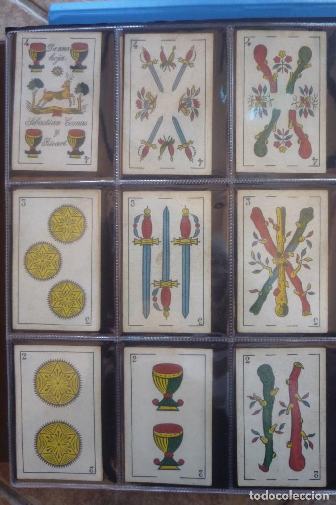 Barajas de cartas: SEBASTIÁN COMAS Y RICARD. ANTIGUA Y MUY RARA. 4O CARTAS COMPLETA. CIERVO CORRIENDO CON S.C. Y R. EN - Foto 4 - 169453396