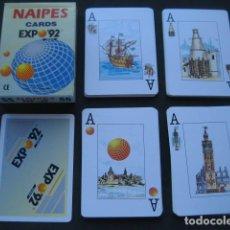 Jeux de cartes: BARAJA POKER ESPAÑOL. PUBLICIDAD EXPO SEVILLA 92. Lote 169733316