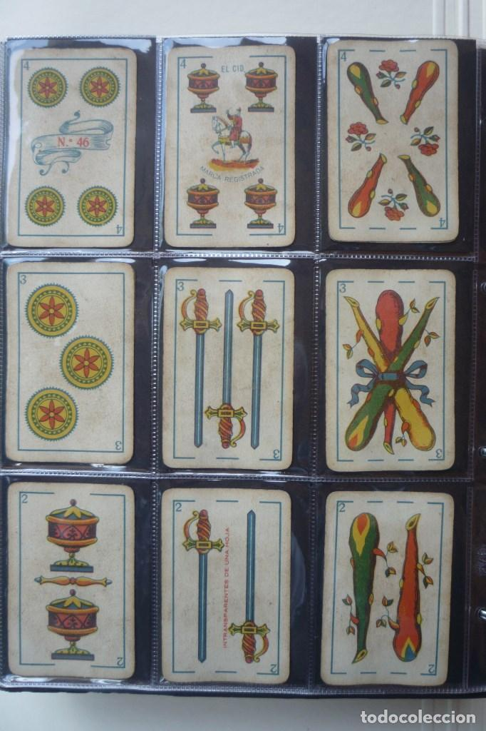 Barajas de cartas: SIMEÓN DURÁ. BARAJA 40 CARTAS. MUY RARA. EL CID-MARCA REGISTRADA EN 4 DE COPAS. Nº 46 EN 4 DE OROS - Foto 4 - 169798220