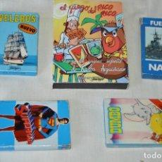 Barajas de cartas: HERÁCLIO FOURNIER - LOTE VARIADO, SUPERMAN, DUMBO, F. NAVAL, VELEROS Y RICO RICO - MUY BUEN ESTADO. Lote 170018248