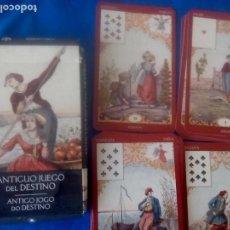 Barajas de cartas: TAROT ORACULO ANTIGUO JUEGO DEL DESTINO DE LA COLECCION LO SCARABEO. Lote 170010960