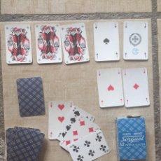 Barajas de cartas: BARAJA DE NAIPES FRANCESA ANTIGUA COMPLETA. Lote 170226225
