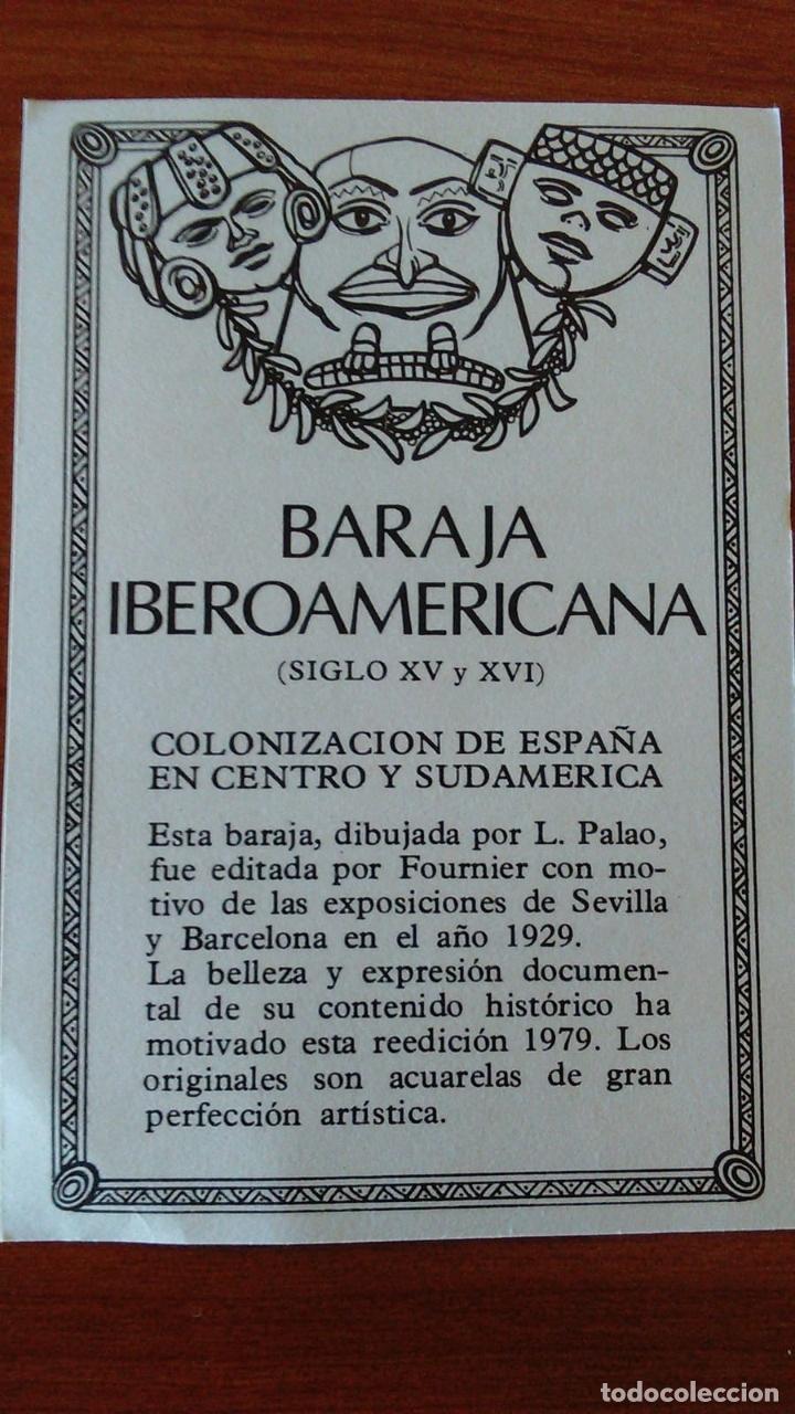 Barajas de cartas: ESTUCHE CON BARAJA IBEROAMERICANA PRECINTADA REEDICION DE 1979. - Foto 5 - 170267996
