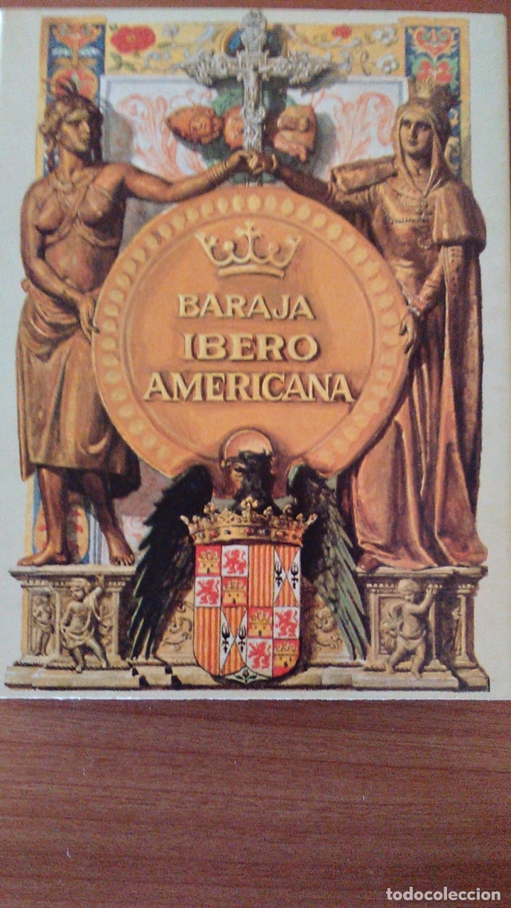 ESTUCHE CON BARAJA IBEROAMERICANA PRECINTADA REEDICION DE 1979. (Juguetes y Juegos - Cartas y Naipes - Baraja Española)