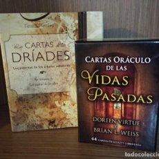 Jeux de cartes: LOTE LAS CARTAS DE LAS DRÍADES + CARTAS ORÁCULO DE LAS VIDAS PASADAS ARKANO BOOKS ED. OBELISCO. Lote 170436352