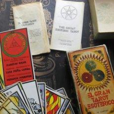 Barajas de cartas: EL GRAN TAROT ESOTÉRICO 77 CARTAS. Lote 170512434