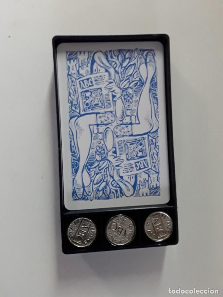 Barajas de cartas: Conjunto de juego de mus de Mingote con amarracos y posavasos también de Mingote. ABC - Foto 3 - 170524780