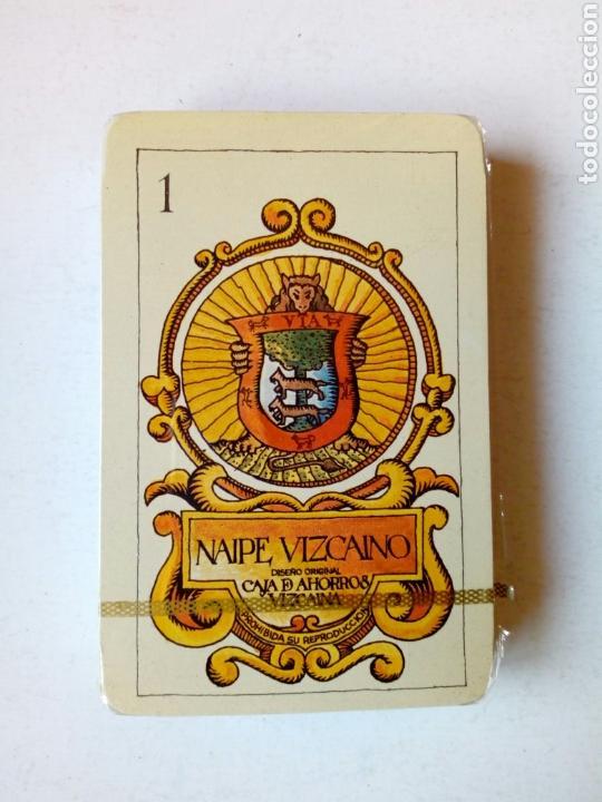 BARAJA PRECINTADA - NAIPE VIZCAINO - DISEÑO ORIGINAL CAJA DE AHORROS VIZCAÍNA - 1979 (Juguetes y Juegos - Cartas y Naipes - Baraja Española)