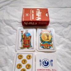 Barajas de cartas: MINIATURA BARAJA NAIPES COMAS , 50 NAIPES TIPO ESPAÑOL.CARTAS EN SU CAJA ORIGINAL. Lote 143737858