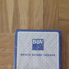 Barajas de cartas: BARAJA CARTAS FOURNIER - BANCO BILBAO VIZCAYA - 50 CARTAS - PRECINTADA . Lote 171034565
