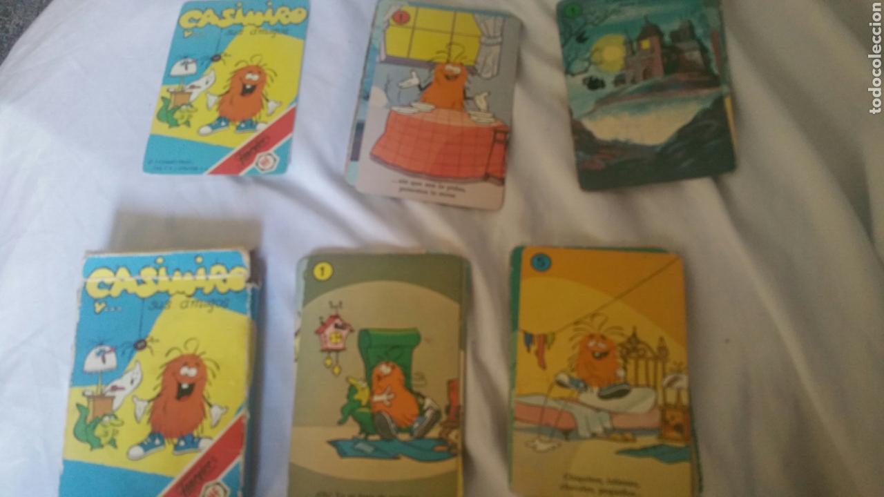Barajas de cartas: Baraja FOURNIER Casimiro y sus amigos .Años 80. COMPLETA+INSTRUCCIONES +CAJA - Foto 4 - 171217522