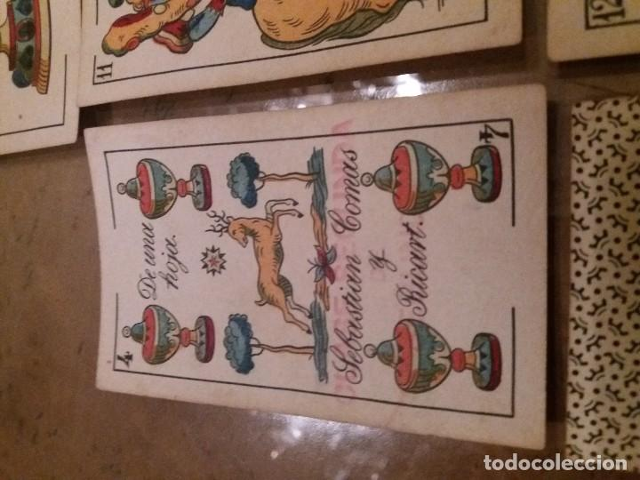 Barajas de cartas: Baraja completa 40n. Sebastián Comas Ricart.1860. - Foto 2 - 171553368