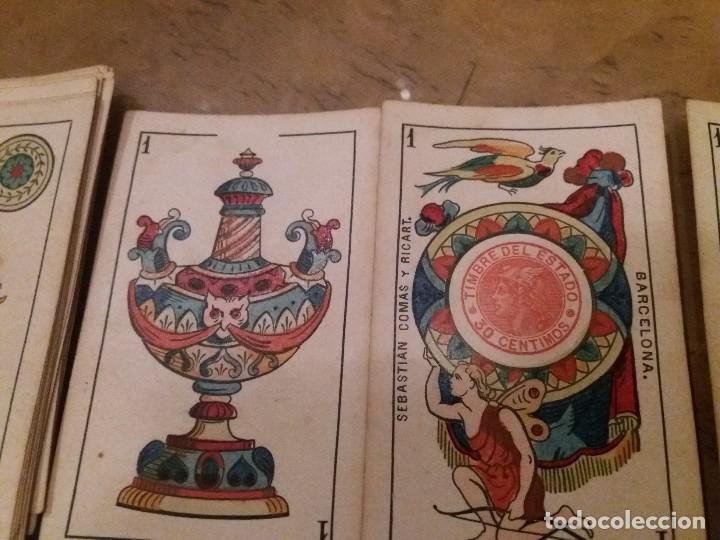 Barajas de cartas: Baraja completa 40n. Sebastián Comas Ricart.1860. - Foto 4 - 171553368