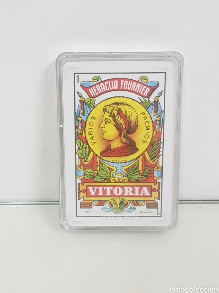 Barajas de cartas: Baraja de cartas de 40 naipes españoles fabricada por Fournier para Banco Central - Foto 2 - 171604173