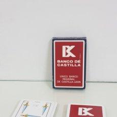 Barajas de cartas: BARAJA DE CARTAS DE NAIPES ESPAÑOLES 40 FABRICADO POR FOURNIER PARA BANCO DE CASTILLA. Lote 171605558